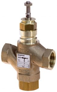 3-way valve with female thread, PN 16 (pn.)