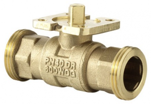 2-way regulating ball valve with male thread, PN 40